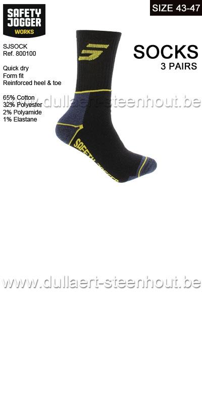Safety Jogger - Lot de 3 paires de chaussettes de travail - SJSOCK - 43/47