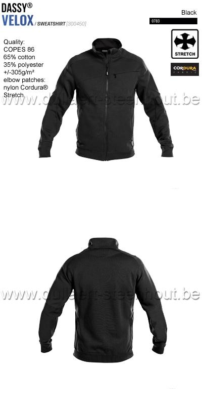 DASSY® Velox (300450) Sweat-shirt - noir