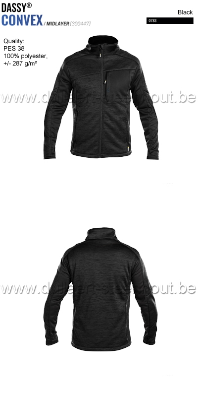 DASSY® Convex (300447) Veste intermediaire - noir