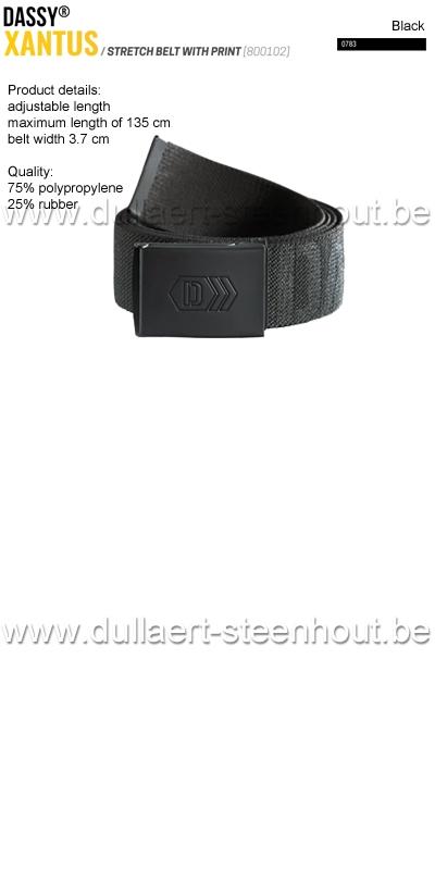 DASSY® - Xantus (800102) Ceinture élastiquée imprimée - noir