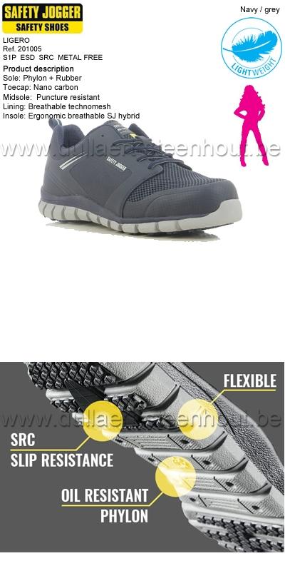 Safety Jogger - Chaussures de sécurité femmes LIGERO S1P - bleu marine