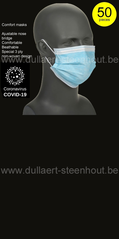 Safety jogger - COMFORT MASKS- MASQUE DE PROTECTION - 50 PIÈCES