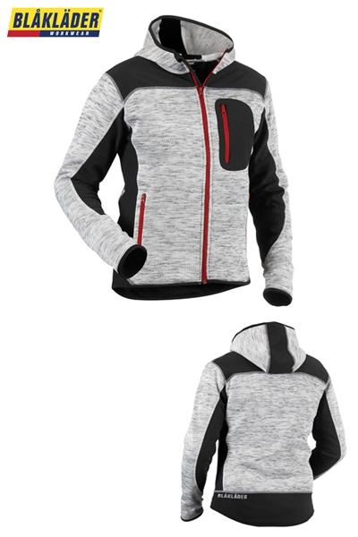 Vêtements de travail   Blakläder veste tricotée gris noir - 4930 ... ed9984621765