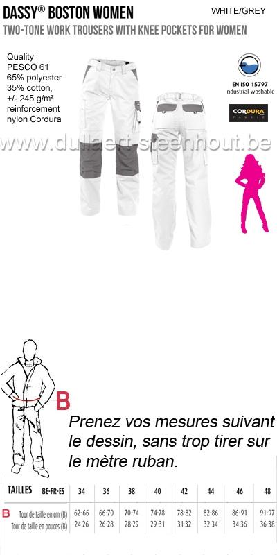 Vêtements De Travail Dassy Boston Women 200669 Pantalon