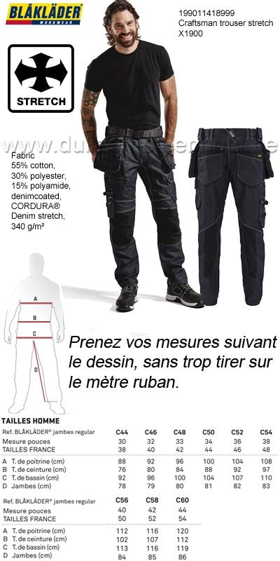 38460a9066 Vêtements de travail | Blaklader - 199011418999 Pantalon X1900 ...