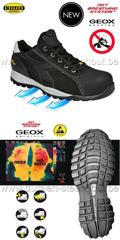 Diadora - Chaussures de sécurité GEOX S3 SRA HRO ESD Glove Tech LOW Pro
